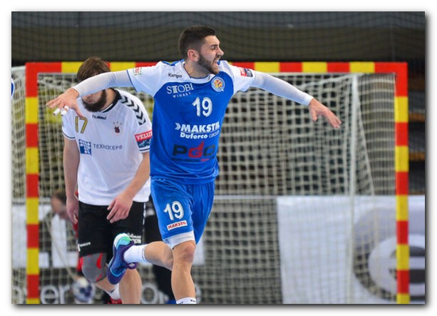 Vanya Ilic celebra un gol con la camiseta del Metalurg macedonio. Foto: gol.mk