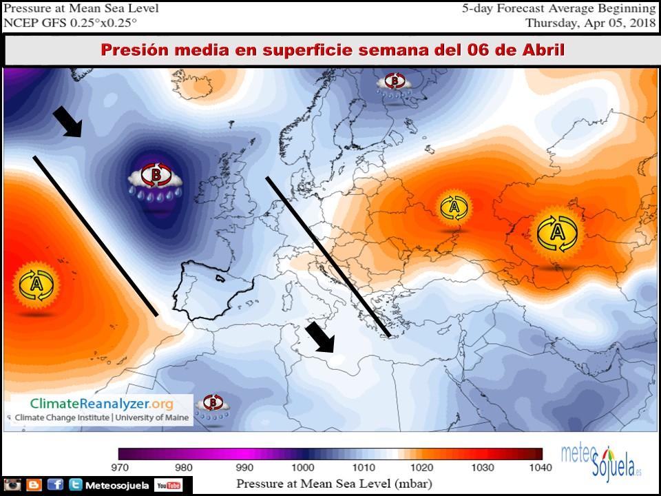 Modelos de Presiones en superficie . Meteosojuela
