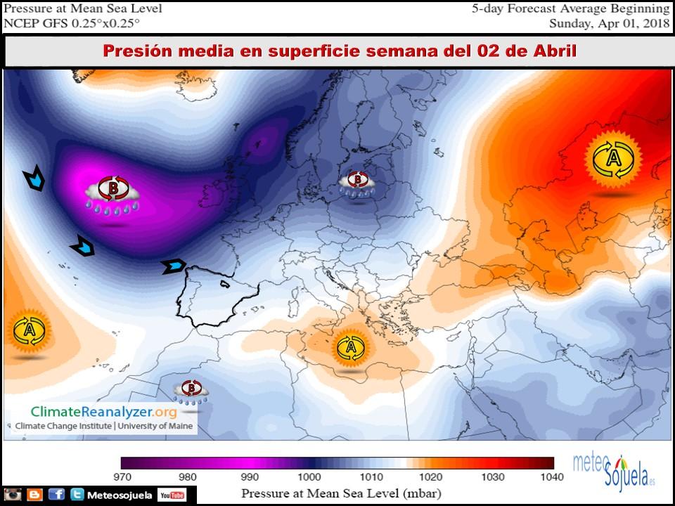 Mapas meteorológicos de superficie. Meteosojuela