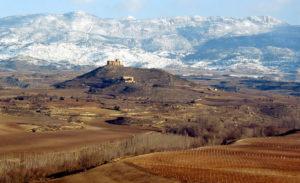 Vista del castillo de Davalillo en invierno. Foto de  Justo Rodríguez