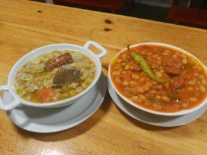 Garbanzos y pochas en La Taberna de Baco